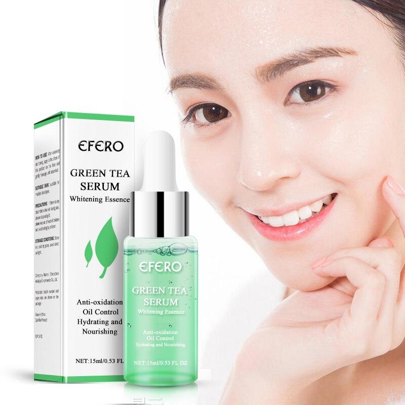 EFERO Green Tea Essence Face Serum Moisturizing Whitening Cream Anti Wrinkle Aging Shrink Pores Oil Control