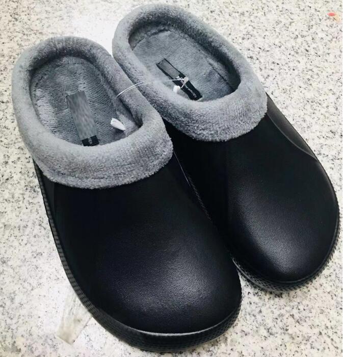 RH Original Men Brand Design Winter Garden Clogs Warm Fur Home Garden Shoes EVA Indoor Winter Sandals Hole Slippers Plush Shoes