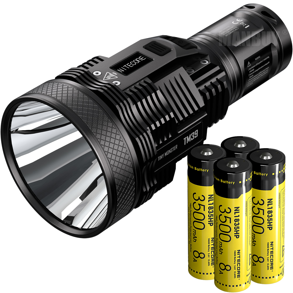 Wholesale Spotlight NITECORE TM39 Lite 5200 Lumens High Performance LED Flashlight LUMINUS SBT-90 GEN2 Hunting Outdoor Searching