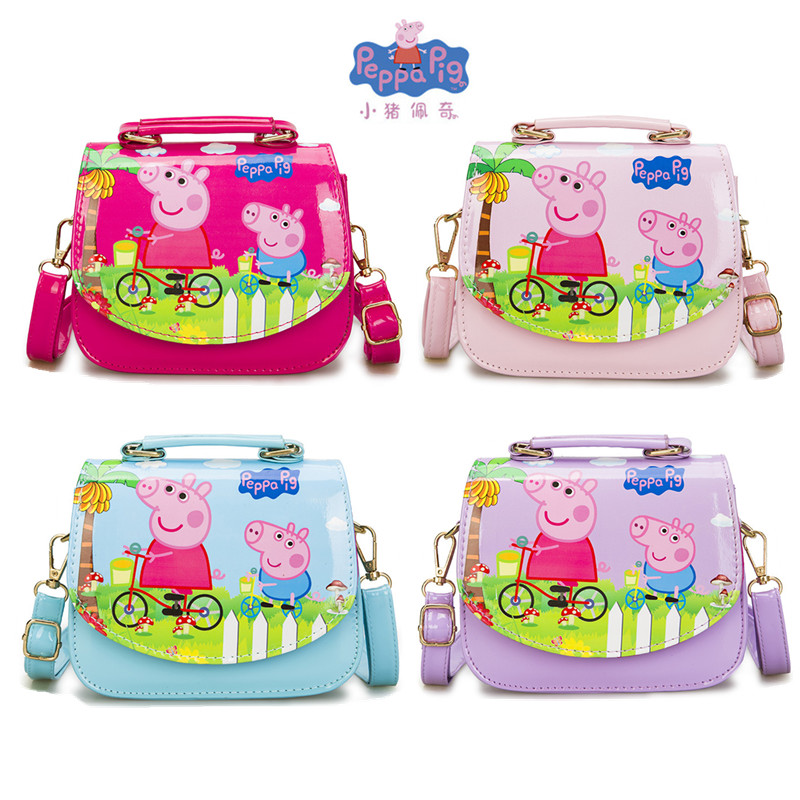 New Peppa Pig Little Girl Anime Card Fashion Pass Wallet Backpack Snack Bag Kawaii Boy Girl Backpack Wallet Phone Bag Toy Gift