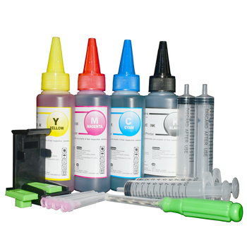 Printer Ink Refill Kit for Canon PG 240 XL CL 241 XL PIXMA MX372 MX374 MX392 MX432 MX439 MX452 MX459 MX472 MX479 512 522 4x100ml acv pg 522