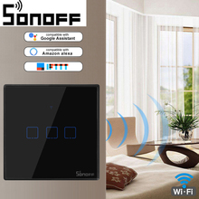 SONOFF T3 WiFi Smart Switches With 3C-TX Gangs(EU & UK &US),Works Amazon Alexa And Google Assistant,With IFTTT Function