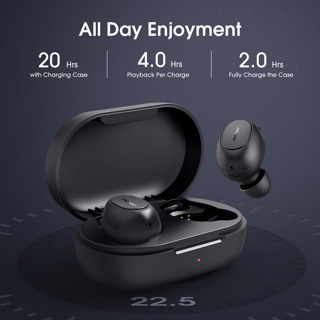 Mpow MDots Wireless Earphones Bluetooth 5.0 True Wireless Earbuds with Punchy Bass 20 hours Playback IPX6 Waterproof Built-in Microphone