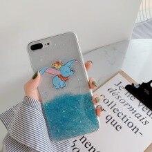 Cute 3D Cartoon Bling Glitter Elephant Soft Phone cover case for OPPO R9 R11 R15 R17  R9S Plus Pro A73 A75 A83 FUNDA