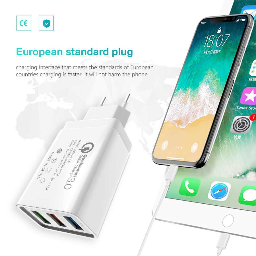 18W Pengisian Cepat 3.0/2.0 USB Charger QC3.0 Dinding Charger Ponsel untuk iPhone X Xiao Mi Mi 9 Tablet Ipad UE QC Pengisian Cepat