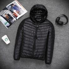 Fashion Men Lightweight down jacket autumn winter thin hoode