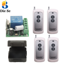 Universal Remote Control Switch DC 12V 1CH rf 433Mhz Relay Receiver and 500m Transmitter for Remote Garden and Led Switch universal remote control dc 12v 1ch rf 433 relay receiver and transmitter for garage remote control and remote light switch