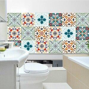 Наклейки на стену плитка для ванной комнаты ПВХ маслостойкая водонепроницаемая для дома гостиная спальня кухня ванная комната Виниловая П...