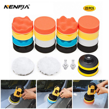 Kit de tampons de polissage pour polisseuse de voiture, 22 pièces, filetage 3/4/5/6/pouces, avec adaptateur de perceuse M10 M14, outils électriques
