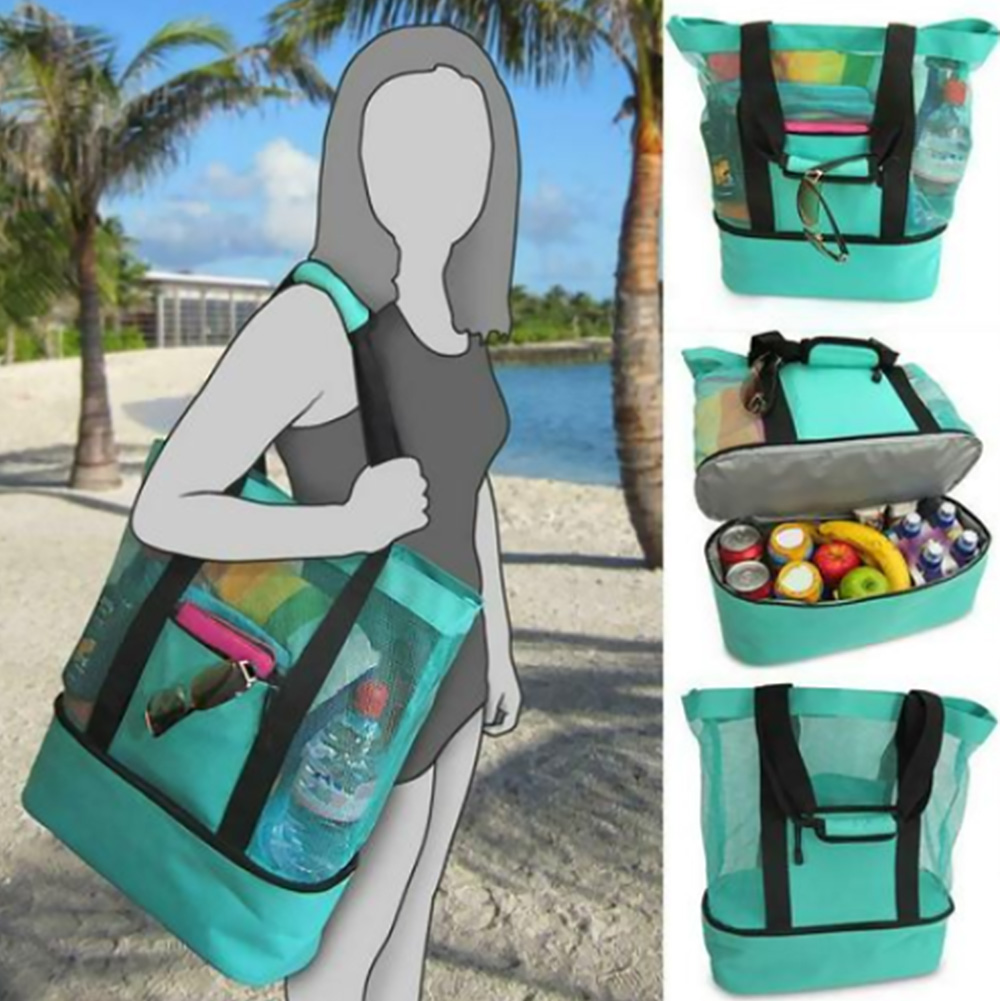 With Zipper Heat Preservation Beach Outdoor Portable Food Fresh Keeping Insulation Camping Lunch Bag Lightweight Picnic