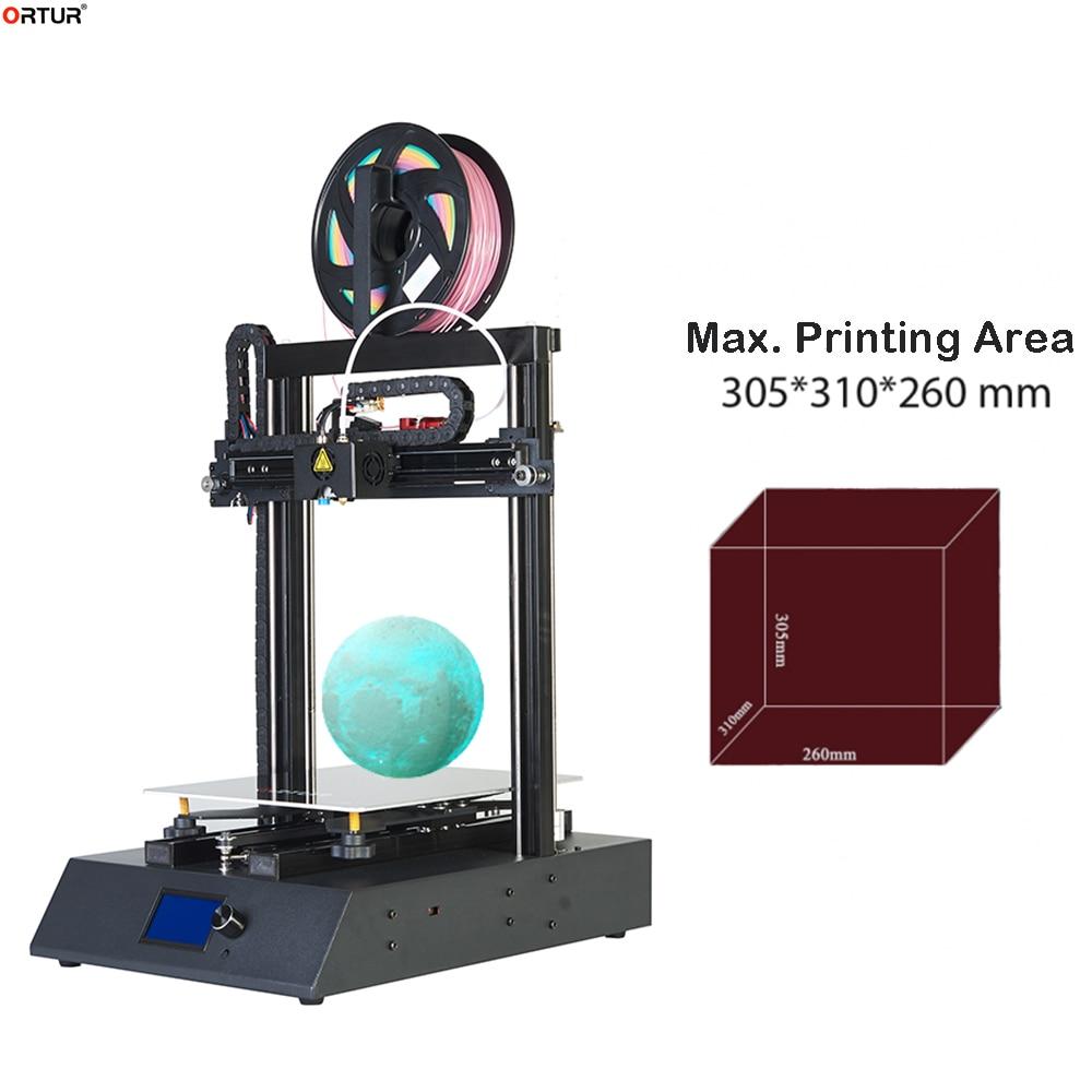 FDM imprimante 3D facile à assembler 360W 24V alimentation 25 Points Auto-nivellement grande taille FDM qualité industrielle impression lune lumière lampe
