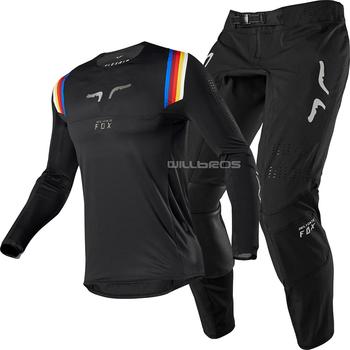 Niegrzeczny lisa MX ATV 360 Flex powietrza czarny Jersey spodnie dla Motocross MX SX Off-Road motor terenowy sprzęt wyścigowy Combo tanie i dobre opinie NoEnName_Null Mężczyźni Kombinacje MX MTB suit 100 poliester