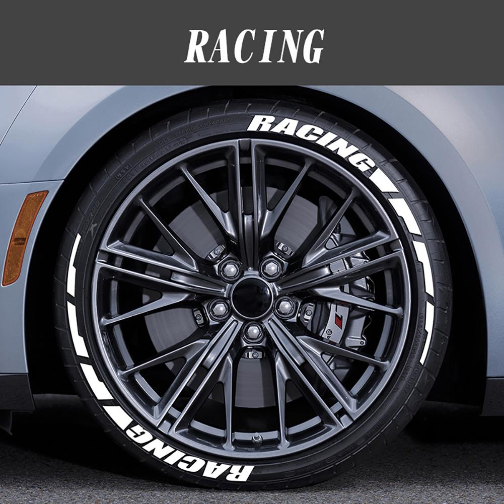Universal Car Wheel Tyre Stickers Personalized Auto Motorcycle Tyre Stickers 3D Car Styling Wheel Label DIY