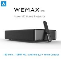 Originale WEMAX ONE PRO Laser Proiettore 7000 Lumen 150 ''1080P FHD 4K Android 6.0 BT4.0 2.4/5GHz WiFi Home Theater Sistema home theatre    -
