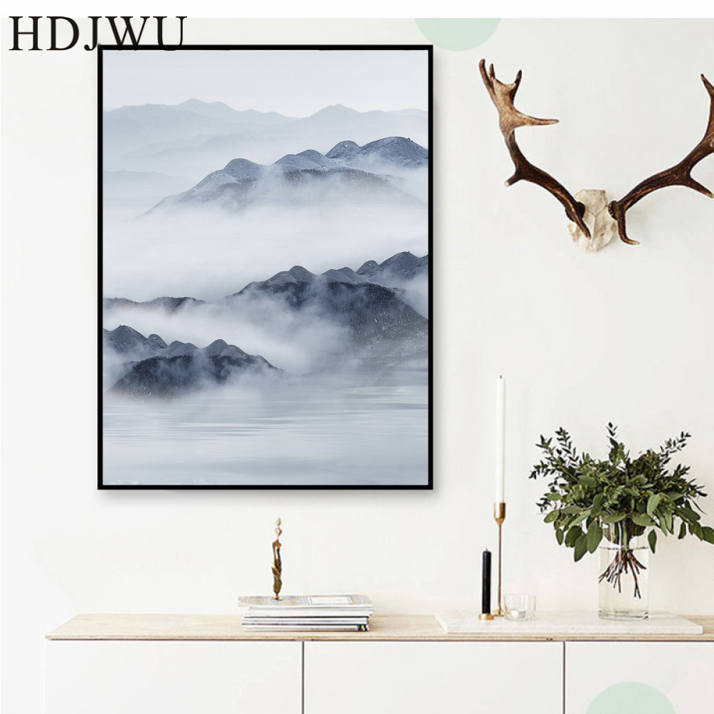 Abstract Canvas Home Wall Painting Picture Mountain Printing Posters Wall Pictures for Living Room DJ385 in Painting Calligraphy from Home Garden