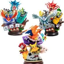 Pokemon gyarados charizard pikachu jogo pvc figura de ação anime pokemon go charizard pikachu diorama estatueta brinquedos 200mm