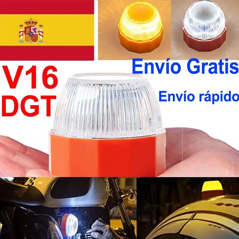 V16 led Dgt аварийный светильник автономный сигнализации DGT одобренный флеш безопасности сигнальная лампа янтарный свет белый мерцающий ДТП св...