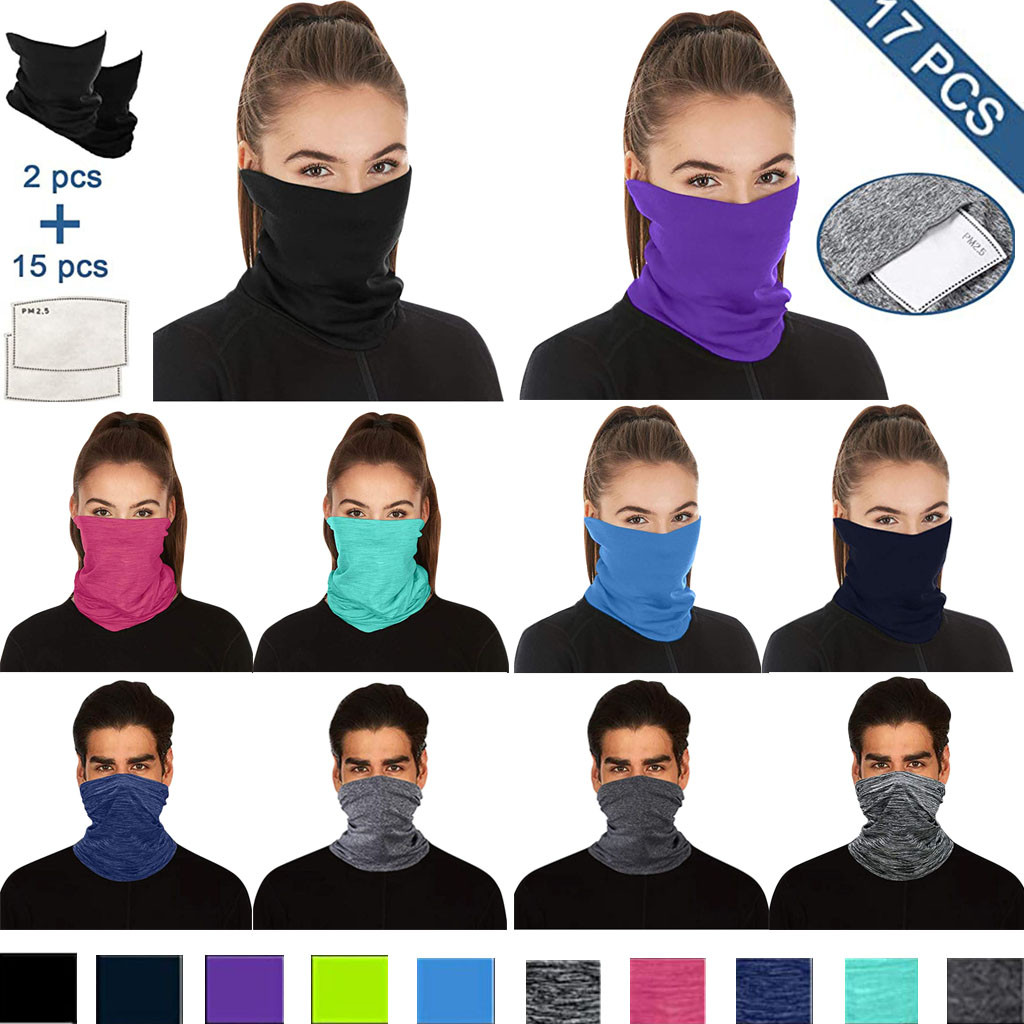 H032e9563aa0b4f0fbd4f6493e4677050n Multifunctional Head Scarf Maske Facemask Face Mouth Neck Cover With Safety Filter Mascarillas Washable Bandanas Reusable