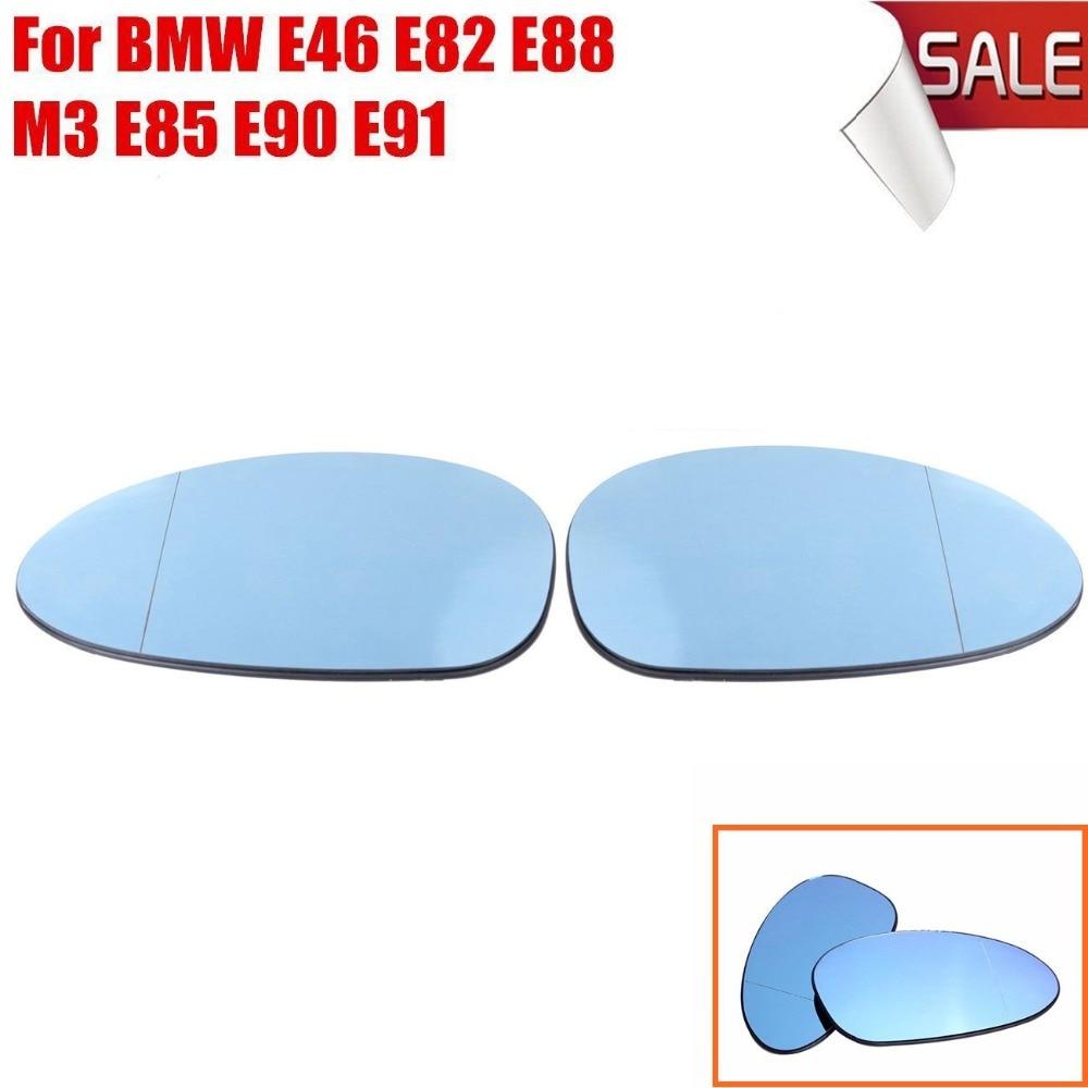 Blue Glass BMW E82 E90 E91 E92 E46 OEM Left Door Mirror Glass Heated NEW
