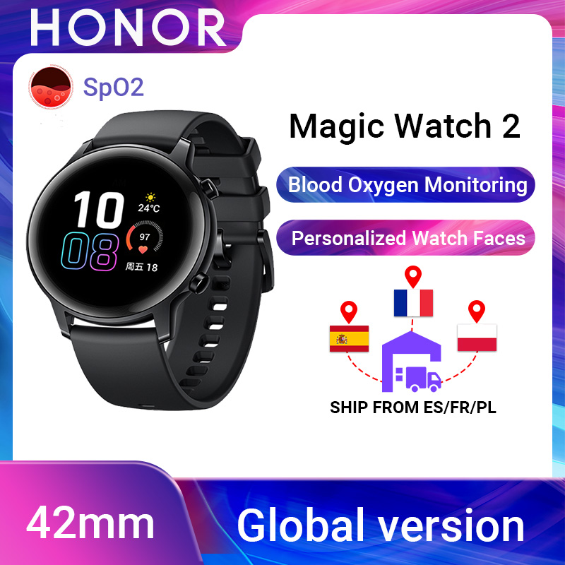 Global Version Honor Magic Watch 2 Watch Magic 2 Smart Watch Women 42mm Blood Oxygen Phone Call Heart Rate Track For Android ios