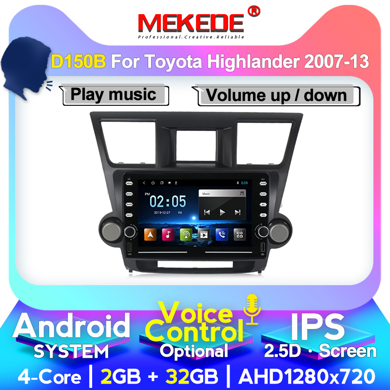 4G LTE HD 1024X600 Android for TOYOTA Highlander 2009 2010 2011 2012 2013 2014 Multimedia Stereo Car DVD Player Navigation GPS R