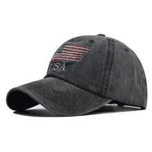 A nova bandeira americana bordado boné de beisebol lavado juventude boné masculino e feminino ao ar livre pára-sol boné confortável e respirável