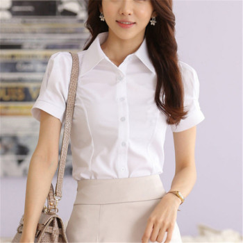 Women Shirts Cotton White Shirt Plus Size Korean Fashion Woman OL Blouses Womens Tops and