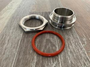 """Image 1 - Bulkhead Compression Fitting 1.5"""" and 2"""" TC homebrew Weldless Bulkehad 304 Stainless Steel Homebrew Kettle Bulkhead"""