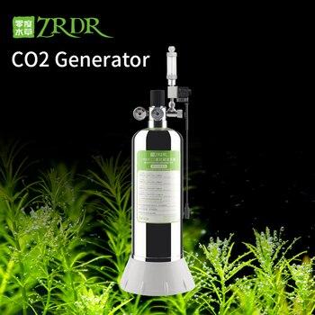 ZRDR аквариум DIY СО2 Генератор Система Комплект с регулировкой потока воздуха воды растений рыб аквариума ValveDiffuserThe реакции