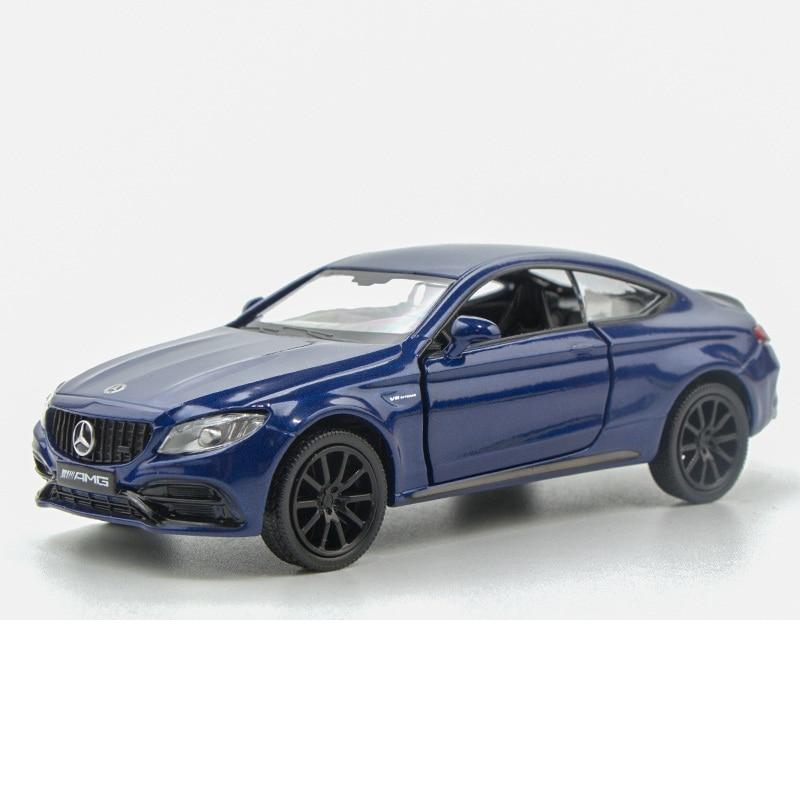 Высокая имитация эксклюзивных диecasts & Toy транспортных средств RMZ городской автомобиль Стайлинг C63 S AMG купе 136 литой под давлением модели