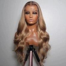 Волосы монгольские с Омбре, клубничный, светлый, на полной сетке, человеческие волосы, парики с предварительно выщипанными волосами без кле...