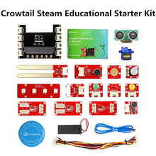 Elecrow Crowtail Steam Educational Starter Kit for Micro:bit Learning Programming Kit Microbit Makecode Projects with 9G Servo elecfreaks ef08180 microbit starter kit