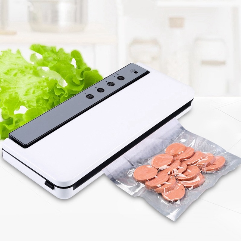 Vacuum Sealing Machine Home Best Vacuum Sealer Fresh Packaging Machine Food Saver Vacuum Packer Include 10Pcs Bags EU Plug