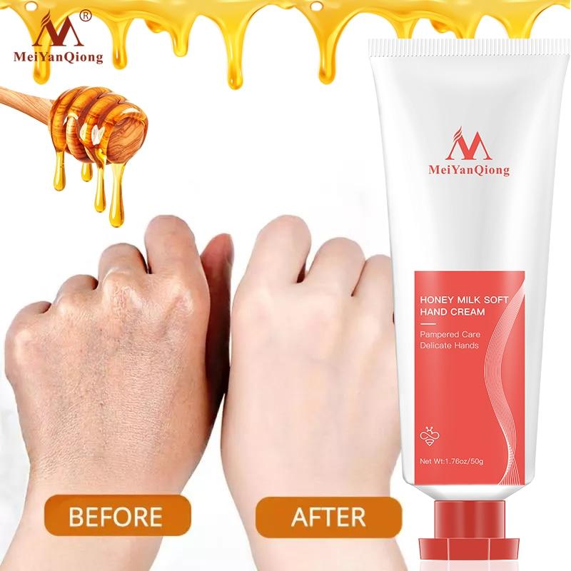 蜂蜜ミルクソフトハンドクリームローション血清修理栄養手のスキンケア抗荒れアンチエイジング保湿美白クリーム