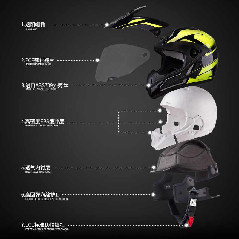 BYE мотоциклетный шлем, мотоциклетный шлем для верховой езды, мотоциклетный шлем для мотокросса, мотогонок, сертификация Casco ECE