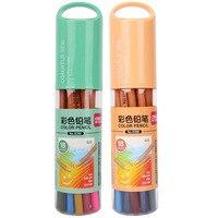 Deli 6390 цветной карандаш 18 цветов картографирование граффити сад цветные ручки цвет свинец