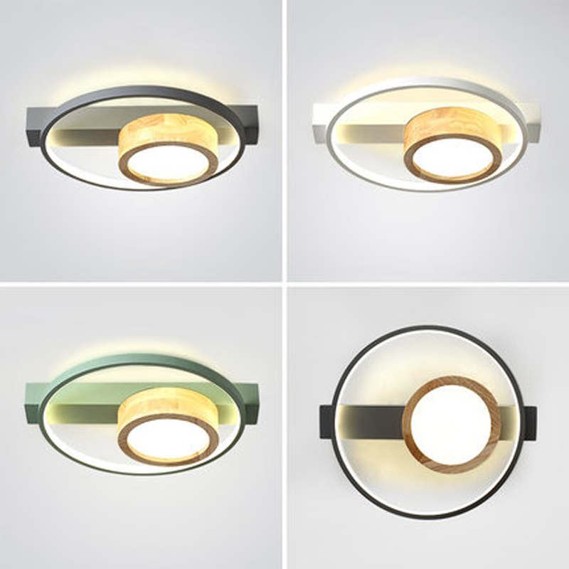 Nordic bedroom ceiling lamp modern minimalist designer room log creative loft second bedroom study round ceiling lamp Ceiling Lights     - title=