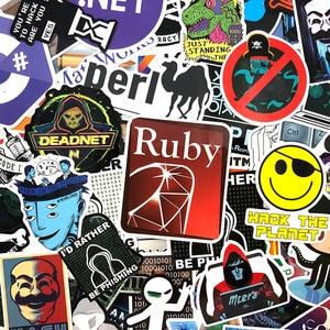 Image 4 - 72Pcs/Pack Programmer Graffiti Stickers Hacker Programming Java For Luggage Skateboard Laptop Motorcycle PVC Sticker For Kid