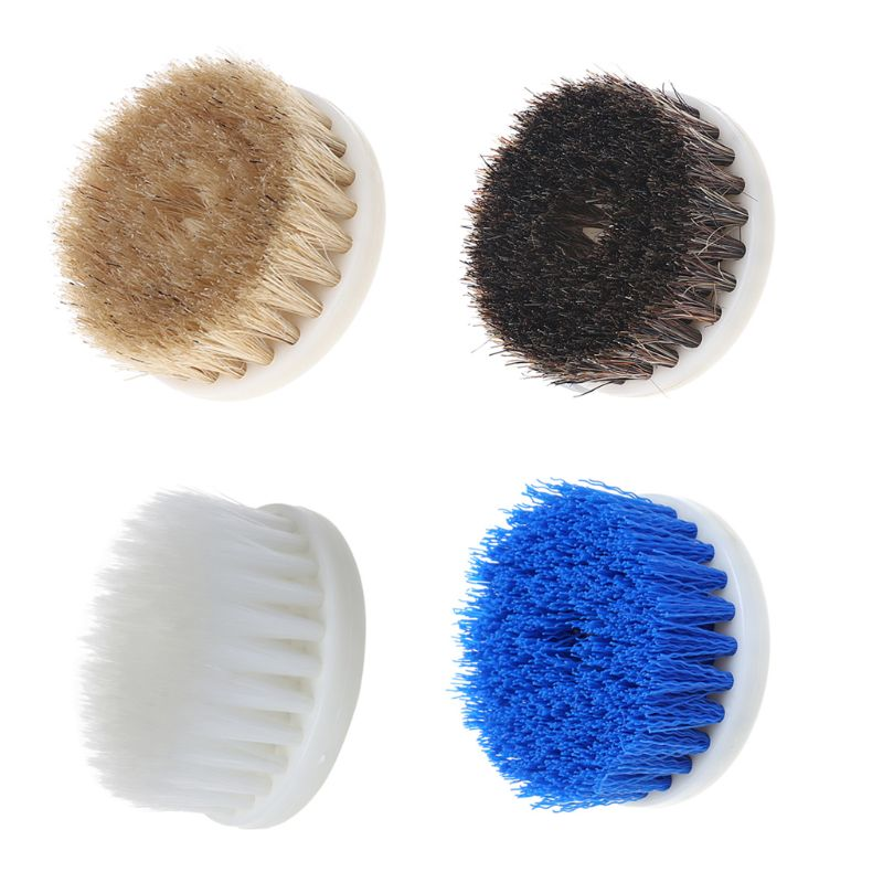 60mm White Soft Drill Powered Brush Head For Cleaning Car Carpet Bath Fabric New