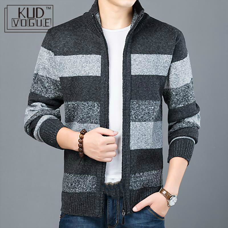 Kude Thick New Fashion Brand Sweater For Mens Cardigan Slim Fit Jumpers Knitwear Warm Autumn Korean Style Casual Clothing Male