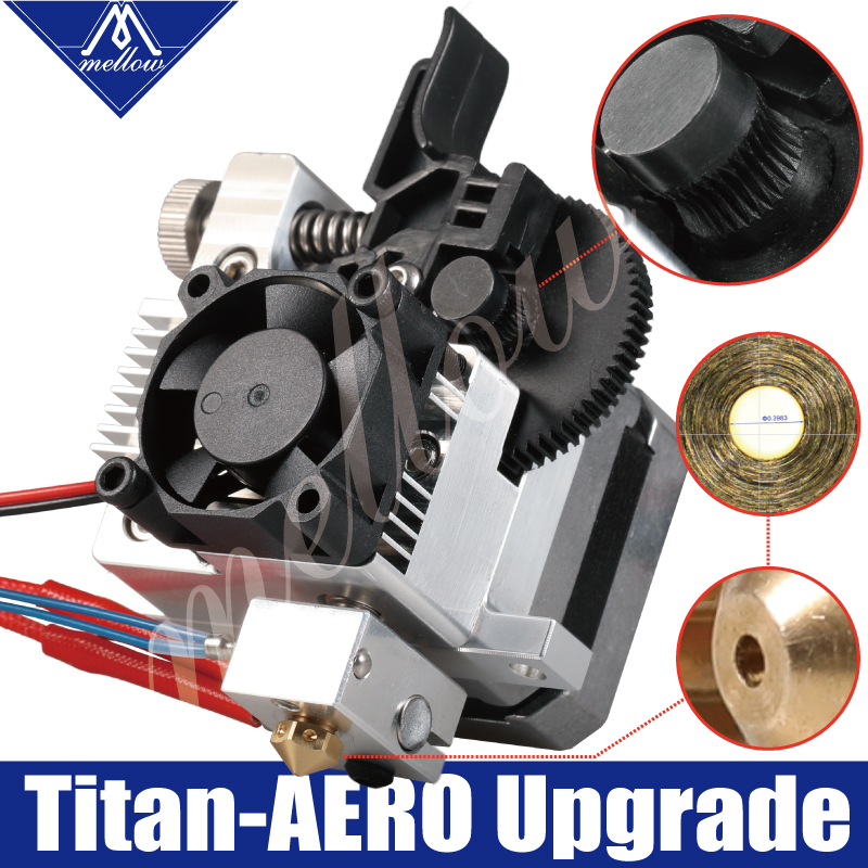 Mellow 3D Printer Parts Upgrade All Metal Titan Extruder For V6 J-head Bowden Hotend Anet A8 Cr-10 Prusa I3 Mk3 MK8 Ender 3