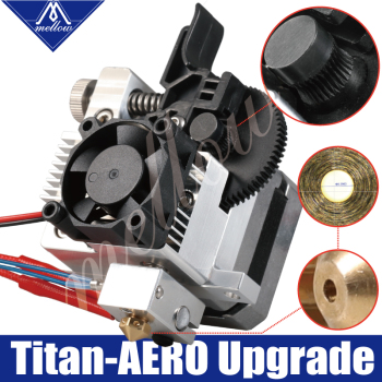 Mellow 3D printer parts upgrade All metal titan Extruder for V6 J-head bowden hotend Anet a8 Cr-10 Prusa i3 mk3 MK8 Ender 3 3d printer parts cyclops 2 in 1 out 2 colors hotend 0 4 1 75mm 12v 24v fan bowden with titan bulldog extruder multi color nozzle