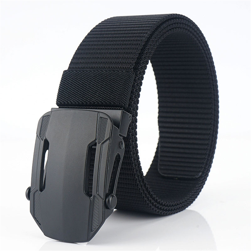 Luxury Canvas Men Belt High Quality Alloy Buckle Adjustable Tactical Belt For Jeans Male Casual Black Nylon Belts Free Shipping