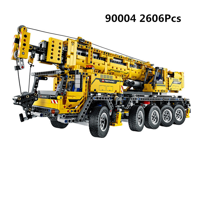 2606Pcs <font><b>Technic</b></font> Motor Power Mobile Crane Mk II Model Building Kits Blocks Bricks compatible <font><b>legoing</b></font> <font><b>42009</b></font> Birthday image
