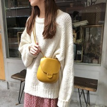 Fashion Solid Color Curved Shoulder Bag Women Cute Mini Round Bags Casual Ladies Pu Crossbody Messenger Chic Purses