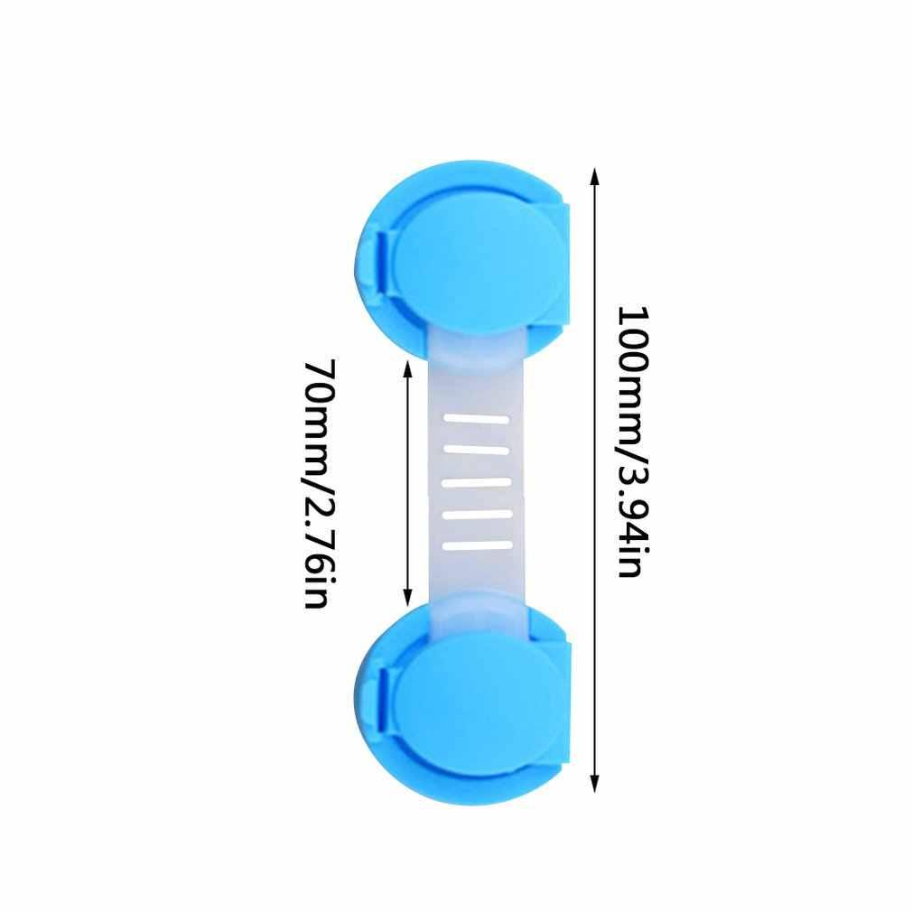 10cm Kinderen Kinderen Veilig Care Lock Bandjes Plastic Baby Beschermen Sloten Kastdeur Drawers Koelkast Lock