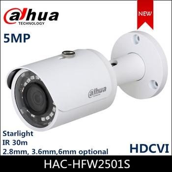 Dahua 5MP HDCVI Camera Starlight IR 30m Bullet Camera HAC-HFW2501S CCTV Camera dahua 4mp wdr hdcvi ir bullet cctv camera hac hfw2401r z ire6 ip67 varifocal lens 2 7 12mm motorized lens ir60m smart 120db 3dn