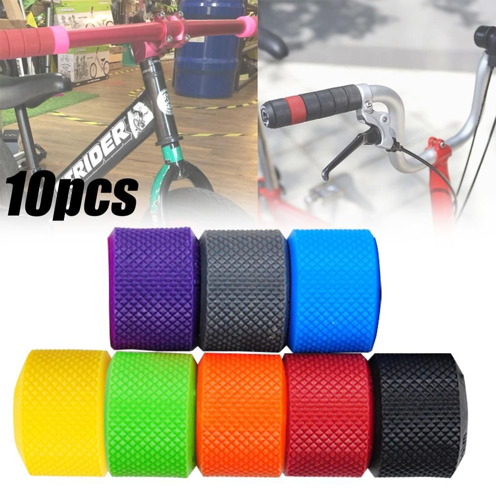 10PCS 22 Mm Bike Handlebar Grip Ring TPR Rubber Non-Slip Grip For BMX Kids Tricycles Bicycle Accessories