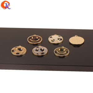 Image 4 - Cordial tasarım 50 adet 18*20MM takı aksesuarları/DIY yapımı/el yapımı/yüz şekli/leopar baskı etkisi/takılar/küpe bulguları