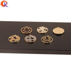 Image 4 - Design cordial 50 pçs 18*20mm acessórios de jóias/faça você mesmo/feito à mão/forma de rosto/efeito de impressão de leopardo/encantos/brincos achados